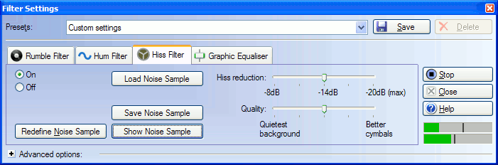 Cleanup Audio Filters